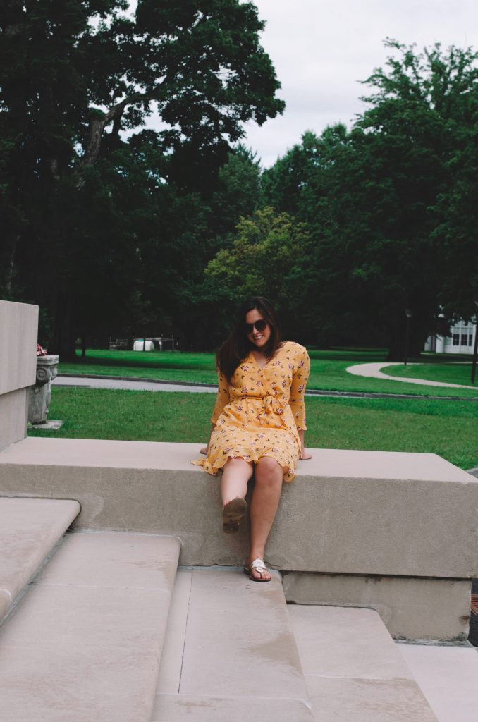 Fall Outfit: Yellow Dress