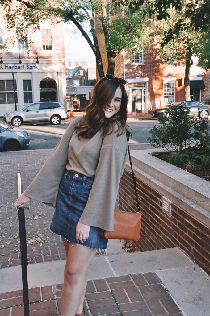 Wearing a Skirt in Fall