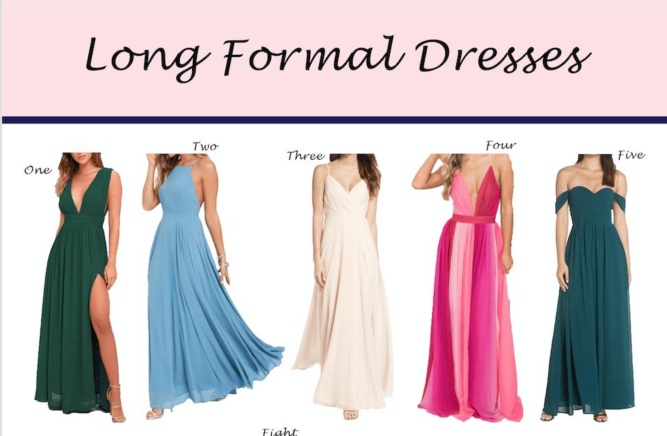 Formal Dresses: Long Edition